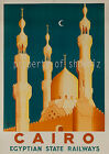 Cairo vintage Egyptian State Railway ad print poster, 4 sizes available-Train 31
