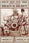Vintage War propaganda print poster, large 4 sizes available-War 40
