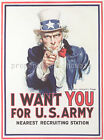 Vintage U.S. Army propaganda print poster, large 4 sizes available-War 92