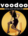 Voodoo New Sexy Shine Lace Top Stay Ups Stockings Pantyhose Tights