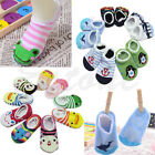1Pair Colorful Cute Lace Side Baby Boy Girl Toddler Anti-Slip Sock Shoes Slipper
