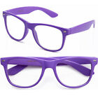 New Wayfarer  Clear Lens Prescription Possible Designer Purple Neon KY8032-CN2