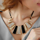 Easy And Decent Design Beads Enamel Bib Leather Braided Rope Necklace Chain B5BU
