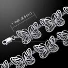 Stunning Butterfly Link Silver Bracelet - Made in .925 sterling silver