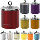 MORPHY RICHARDS TEA COFFEE SUGAR BISCUIT CAKE KITCHEN STORAGE TINS CANISTERS JAR