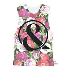 Of Mice And Men Floral All Over Licensed Junior Tank Top Shirt S-XL