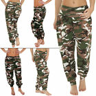 New Womens Camouflage Camo Print Ali Baba Harem Hareem Trousers Size 8 12 16 20