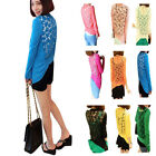 9 Colors Womens Lace Hollow Long Sleeve Knitted Coat Sweater Cardigan Tops Shirt