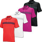 Adidas Golf Puremotion Climacool Chest Stripe Polo Golf Shirt Mens 6 Colors NWT