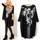 Plus Size Skull Loose T-shirts Rock Chic Emo Punk Avant-Garde
