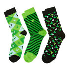 Official Minecraft Socks 3 Pack - Green Creeper Pickaxe - Youths & Adult Sizes