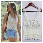 FOREVER NEW BRAND NEW CREAM / IVORY CROCHET LACE VEST CROP TOP UK 8 - 16 BNWOT