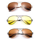 Polarized Aviator Sunglasses Spring Hinge New Classic Men Women Metal Frame