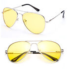 New Metal Aviator Polarized Lens Spring Hinge Sunglasses AS7068PR Silver Yellow
