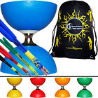 Cyclone Classic Diabolo Set + FIBRE Colour Diabolo Sticks +10m String +  BAG