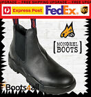 Mongrel Work Station Boots Black Steel Toe Cap Slip On Easy Escape Style 240011
