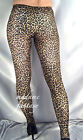 SEXY LEOPARD PRINT OPAQUE FOOTED LEGGINGS XS-XXXL Tall