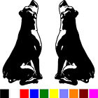 2 ROTTWEILER dog car truck 1 LEFT & 1 RIGHT vinyl decals stickers V409