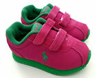 Ralph Lauren Girls Kids Baby Boys Pink Slippers Shoes Sneakers Runner Ez 20 - 33