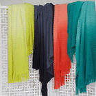 OMBRE Fringed Tie Dyed Knitted Throw Rug 127 x 152cm Logan & Mason NEW