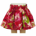 Girls ex Mini Boden Deep Red Floral Lined Cotton Skirt Pretty New Childrens