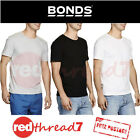 Bonds Mens 3 Pack New Chesty Athletic Singlet Singlets Top Vest Tee Black Cotton