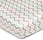 Geometric Fitted Crib Sheet By American Baby Company