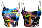 WOMEN LADIES BATMAN BOOB TUBE BRALET BANDEAU STRAPPY CAMI VEST CROP TOP BRA TEE