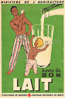 Vintage French milk print poster, large 4 sizes available