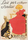 Vintage French milk advertisement print poster, large 4 sizes available