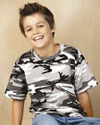 Code V - Youth Cotton Camouflage T-Shirt - 2206 - XS-L - Short Sleeve