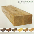 Solid Wood Rustic Floating Shelves in a Range of Different Colour Finishes 8x4