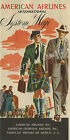 Vintage American Airlines travel print poster, large 4 sizes available