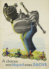 Vintage French Automotive print poster, large 4 sizes available