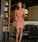 2014 Korean Version Of  New Women Sexy Package Hip Slim Chiffon Turtleneck Dress