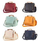 Fashion Korean Women Solid PU Leather Zip Handbag Cross Body Shoulder Tote Bag