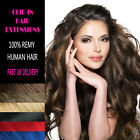 Clip in 100% Remy Human Hair Extensions UK Delivery
