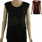 Ladies ex Dunnes Sleeveless Casual Tunic Top Maroon or Black New Womens