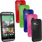 Glossy TPU Gel Skin Case Cover for HTC One MINI 2 2014 ( M8 Mini ) + Screen Prot