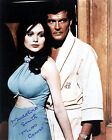 MADELINE SMITH AND ROGER MOORE (JAMES BOND 007) SIGNED PHOTO PRINT 01