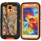Shockproof Defender Orange tree Camo Case Cover for Samsung Galaxy S5 I9600