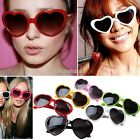 NEW POP Large Oversized Thin Frame Lovely Heart Shaped Womens Fashion Sunglasses