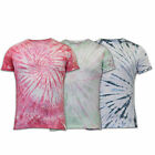 mens Soul Star t shirt tie dye crew neck roll up short sleeved casual summer
