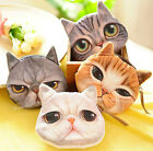 FD533 Vintage Cute Cat Zipper Case Coin Purse Wallet Makeup Buggy Bag Pouch 1pc