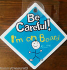 """CHILD/BABY ON BOARD SIGN BADGE  5""""x5"""" (125mm) FOR CAR WINDOW - CHOOSE DESIGN"""