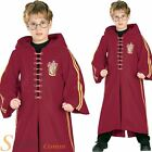 Boy's Deluxe Harry Potter Quidditch Robe Wizard Childs Fancy Dress Csotume