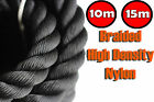 CROSSFIT NYLON 15M & 10M BATTLE ROPE BATTLING EXERCISE GYM CLIMBING TUG STRENGTH
