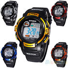 BOYS MENS PLACTIC BAND DIGITAL ALARM DAY DATE STOPWATCH SPORTS COOL WRISTWATCH