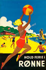 Vintage European Travel Advertisement print poster, 4 large sizes available