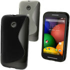 S Line Gel TPU Skin Case for Motorola Moto E Soft Cover Bumper + Screen Prot